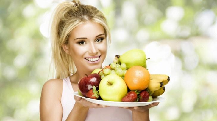 девушка, фрукты, правильное питание