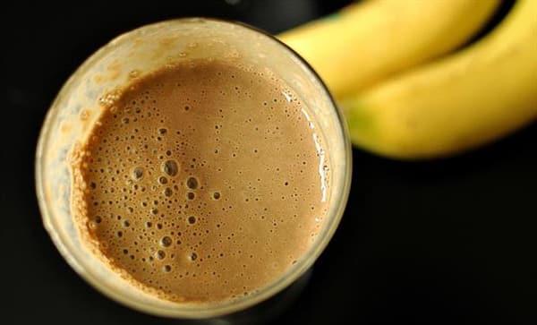 Банан с кофе